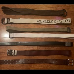 assortment men's belts (s/m, 32)